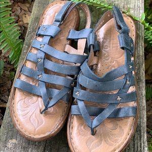Blue Born Leather Sandals